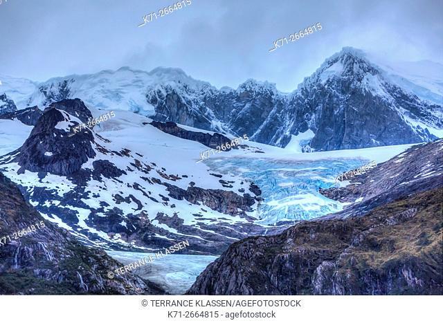 Glacier Franca, Beagle channel, Northwest Arm, Glacier Alley, Avenue of the Glaciers, Chile, Patagonia, South America