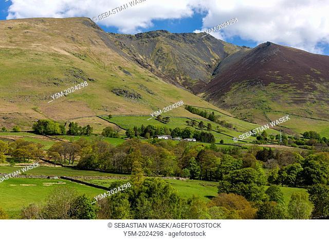Cumbrian landscape near Threlkeld, Lake District National Park, Cumbria, England, UK, Europe