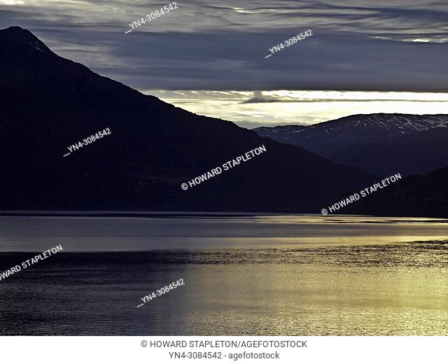 Sunrise over the Eid Fjord in Norway