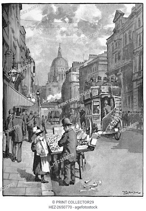 'Fleet Street, Showing St. Paul's', 1891. Artist: William Luker