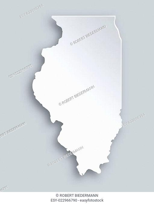 Karte von Illinois