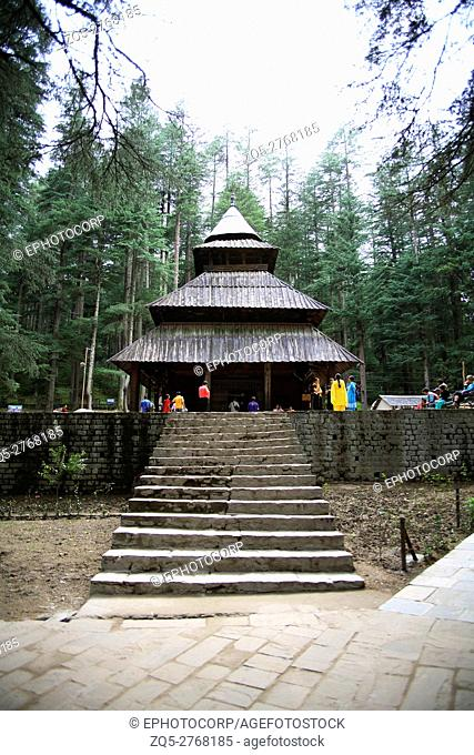 Hidimba Devi Temple is located in Manali, Himachal Pradesh, North India. The structure was built in the year 1553 CE