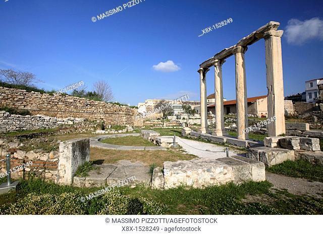 Remains in the Roman Agora, Athens, Greece