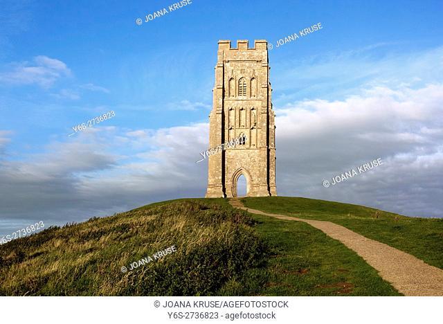 Glastonbury Tor, Glastonbury, Somerset, England, UK