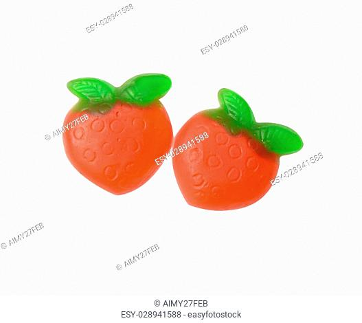 Strawberry gums isolate, clipping path