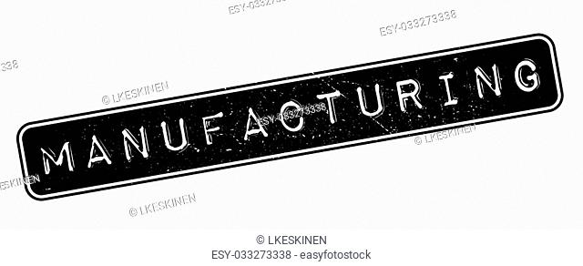Manufacturing rubber stamp on white. Print, impress, overprint