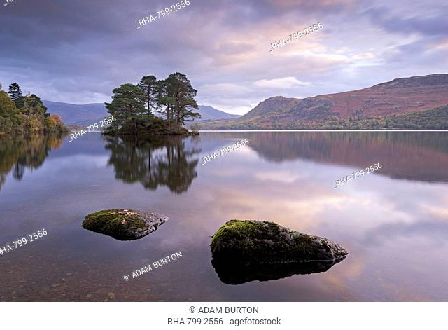 Dawn skies over Derwent Water, Lake District National Park, Cumbria, England, United Kingdom, Europe