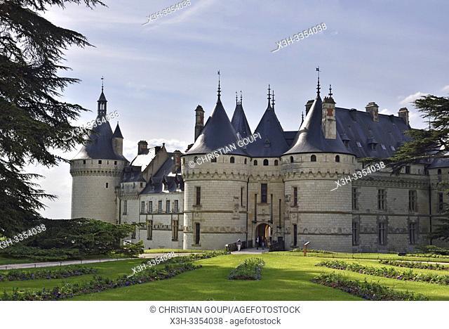 Chateau, Domaine de Chaumont-sur-Loire, departement Loir-et-Cher, region Centre-Val de Loire, France, Europe/ Castle, Domain of Chaumont-sur-Loire