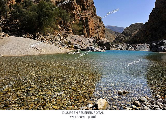 Wadi Arbie near Fins in the Sultanate of Oman