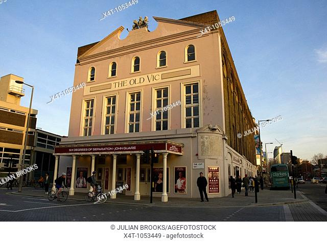 The Old Vic Theatre situated on The Cut near Waterloo, London