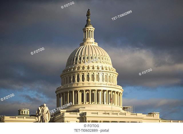 USA, Washington DC, cupola of capitol building