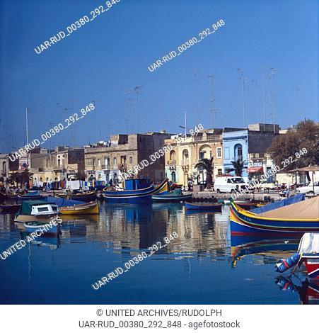 Eine Reise nach Marsaxlokk, Malta, 1980er Jahre. A trip to Marsaxlokk, Malta, 1980s