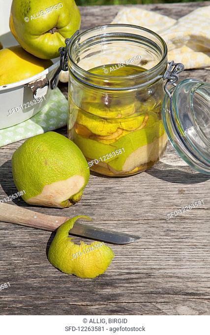 Quinces in a jar
