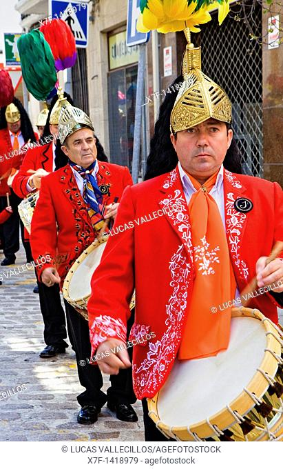 Judios colinegros Black-tailed Jews  Holy Week procession Baena  Córdoba province  Spain