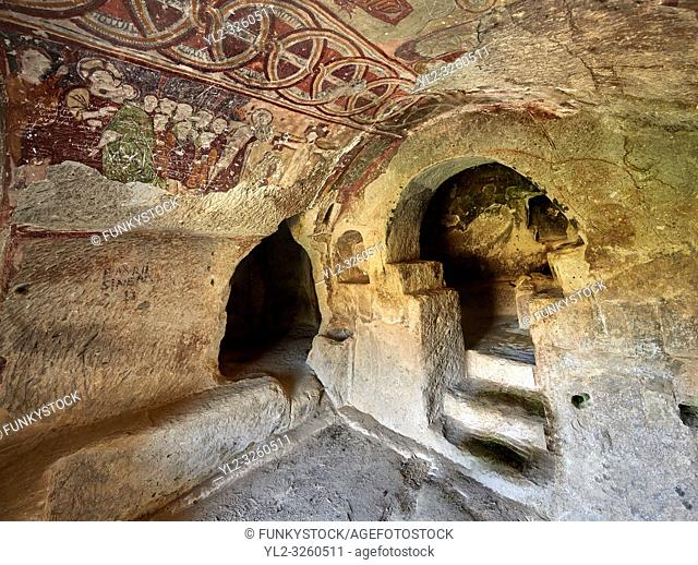 """Pictures & images of the interior frescoes of the Comlekci Church, 10th century, the Vadisi Monastery Valley, """"""""Manast?r Vadisi"""", of the Ihlara Valley"""