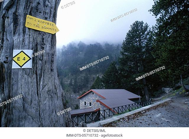 Shelter Spilios Agapitos  Signs , Mount Olymbos,Thessaly, Greece