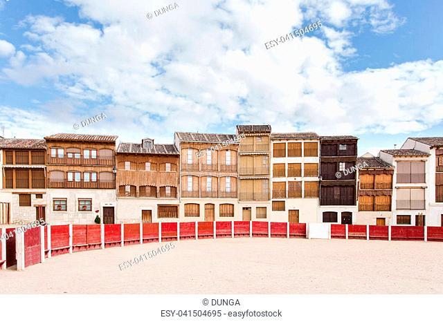 Plaza del coso, ancient bullring in Peñafiel, Valladolid (Spain)
