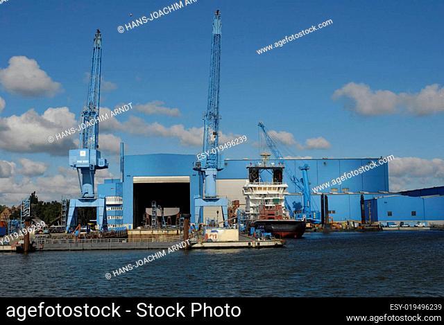 Schiffswerft in Wolgast