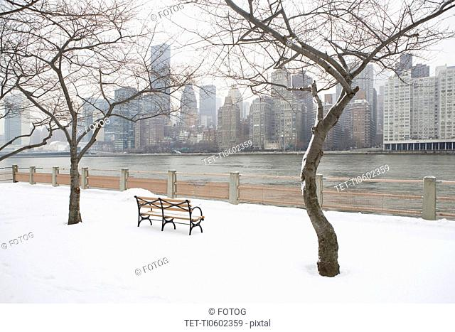 USA, New York City, Manhattan in winter