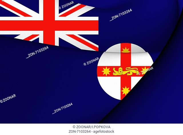 Flag of New South Wales, Australia. Close Up