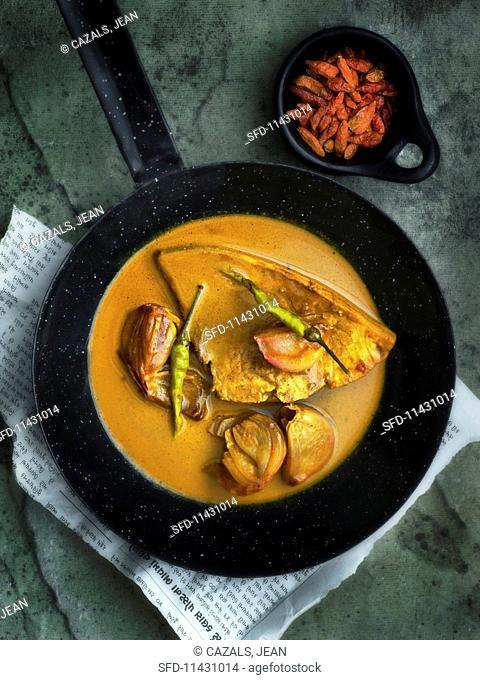 Boatman's curry (swordfish curry, India)