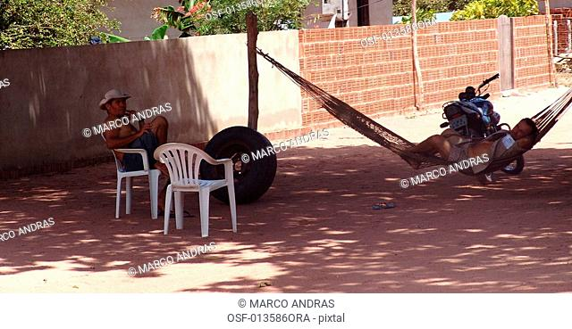 one person resting at a hammock in ceara