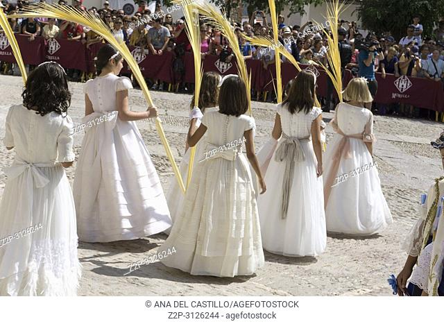MORELLA SPAIN ON AUGUST 26,2018: The Sexenni is one of the oldest festival in Spain, was celebrated for the first time in 1678