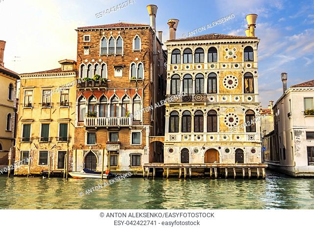 Dario Palace on the Grand Canal of Venice, summer view, no people