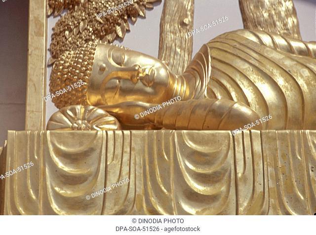 statue of buddha at shanti stupa ; rajgir ; bihar ; india