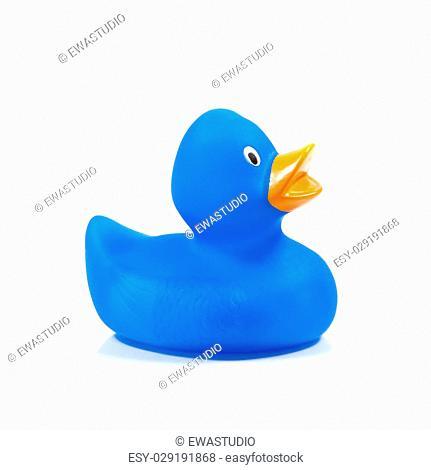 Plastic blue duck toy