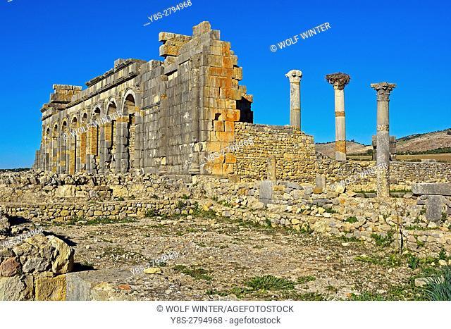 Roman archaeological Site Volubilis, Middle Atlas, Morocco