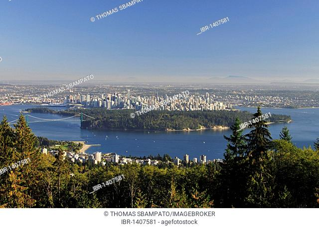 Vancouver with Lions Gate Bridge and Stanley Park, Canada