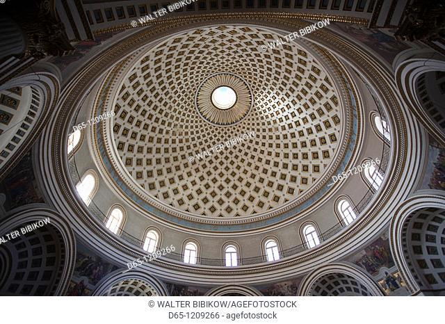 Malta, Central, Mosta, Mosta Dome church, interior