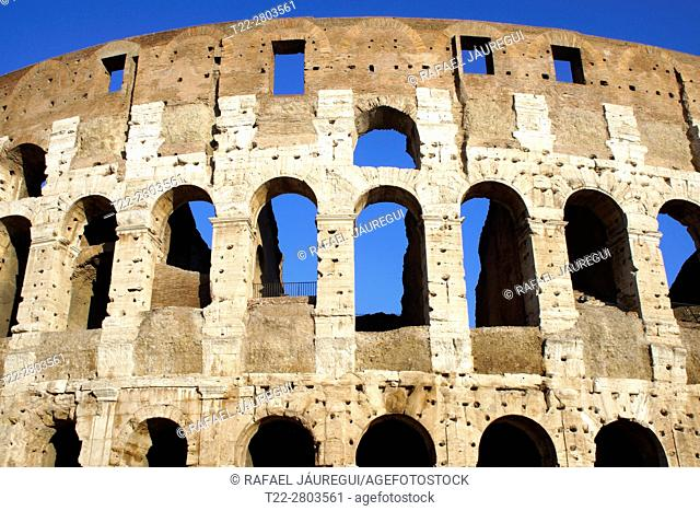 Rome (Italy). Exterior of the Coliseum in Rome