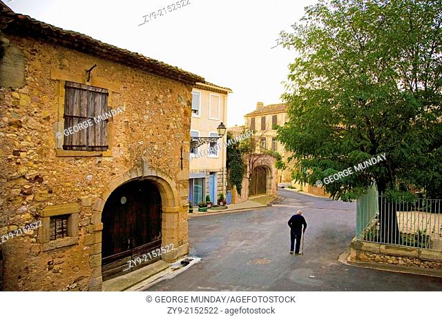 Old Man in the Street, Cruzy, Languedoc-Roussillon, France