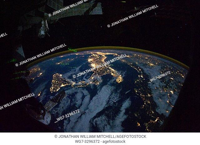 EARTH Aboard the International Space Station -- 28 Oct 2010 -- Parts of Europe and Africa are very easily recognizable in this night time image shot by one of...