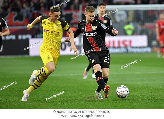 29. 09.2018, BayArena, Leverkusen, GER, 1. FBL, Bayer 04 Leverkusen Vs. Borussia Dortmund, DFL regulations prohibit any use of photographs as picture sequences...