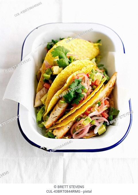 Bowl of fish tacos