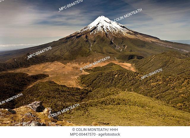 Mount Taranaki from Pouakai Range, New Zealand