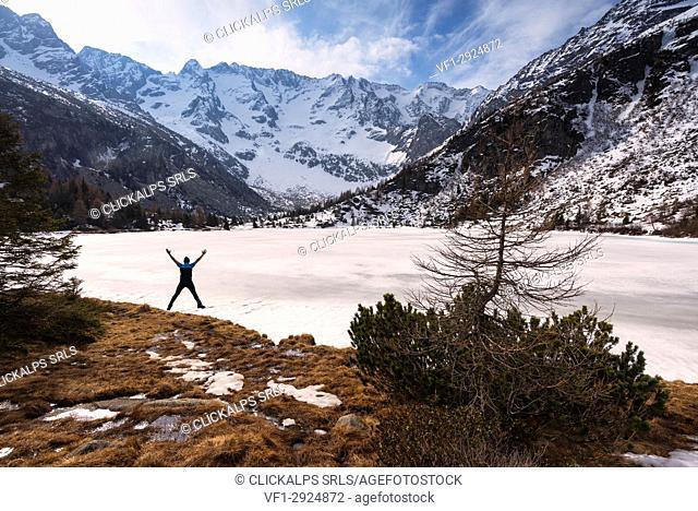 Aviolo lake in Adamello park, Brescia province, Lombardy district, Italy, Europe