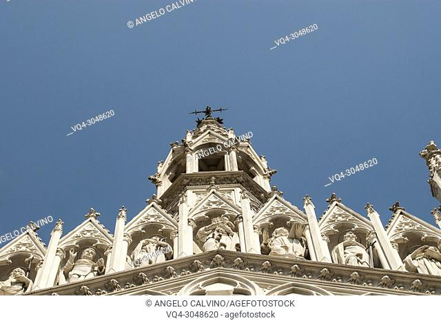 Details of the Church of the Sacred Heart of Jesus in Prati (also known as Chiesa del Sacro Cuore del Suffragio) in centre of Rome (Italy)