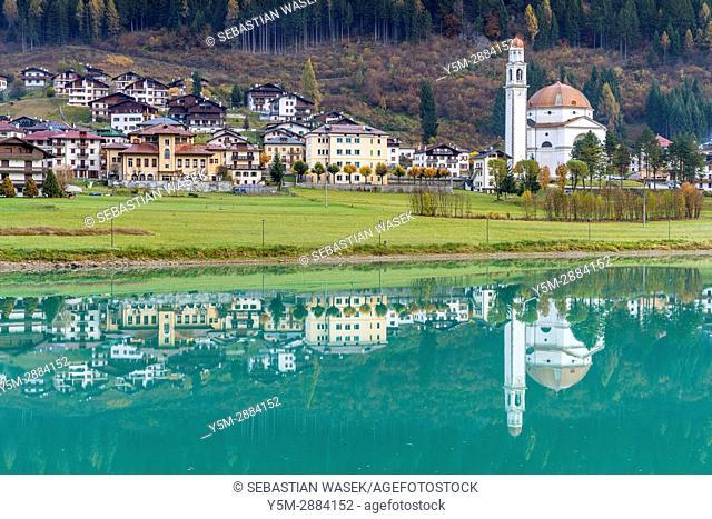 Lago di Santa Caterina and Auronzo di Cadore, the province of Belluno, region of Veneto, Italy, Europe