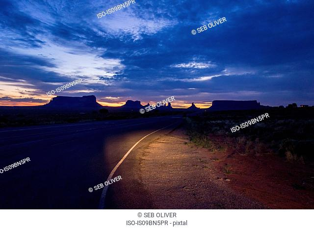 View of Monument Valley at sunrise, Utah, USA
