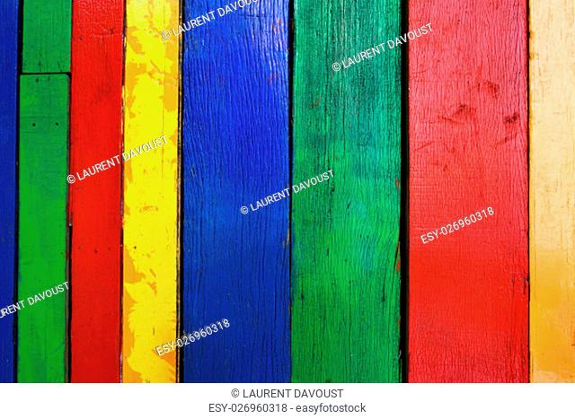 Old multicolor wood board background texture