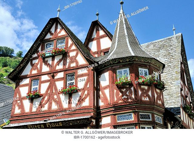 Altes Haus, Old House, from 1368, one of the largest medieval half-timbered houses on the Rhine, UNESCO World Heritage Site, Upper Middle Rhine Valley