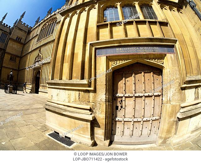 The entrance to the Bodleian Library in Oxford
