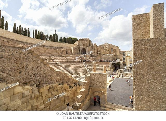 Ancient Roman Theatre in Cartagena,Spain