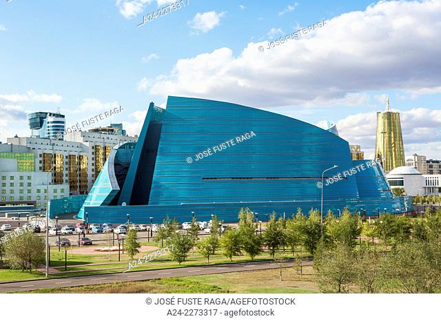 Kazakhstan, Astana City, New Administrative City, State Auditorium Bldg., Manfredi architect