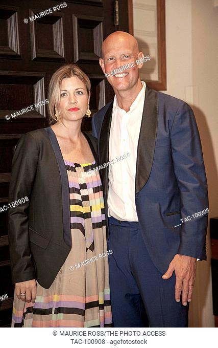 Murphy Jensen and spouse pose on the Red Carpet for photos on November 21, 2015 at the Chris Evert Pro-Celebrity Tennis Classic Charity Gala at the Boca Raton...