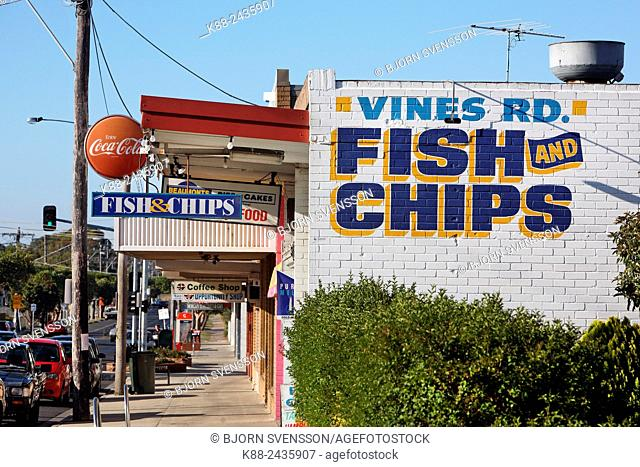 Fish and Chips shop on North Geelong. Victoria, Australia